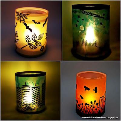 Leuchtende Windlichte aus Pergament für Sommer, Halloween, Herbst und Weihnachten Stampin' Up! www.eris-kreativwerkstatt.blogspot.de