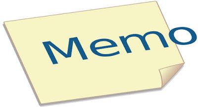 Gambar Contoh Memo dalam Bahasa Inggris dan Artinya