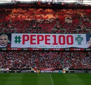 «حشود البرتغال» تحتفل بمئوية «بيبي» في مواجهة إيطاليا