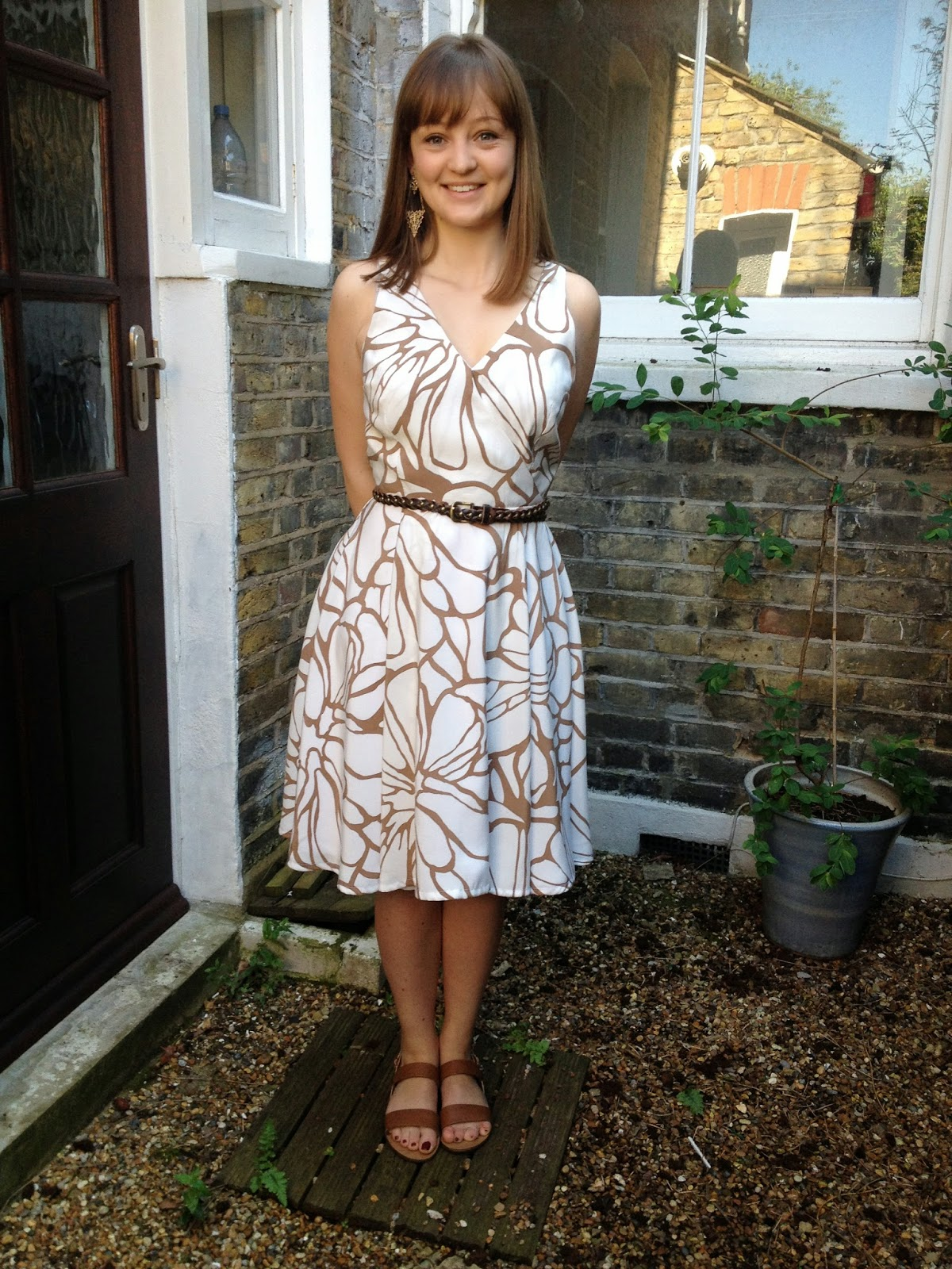 Diary of a Chainstitcher: Cupro Floral By Hand London Flora Dress with faux wrap bodice