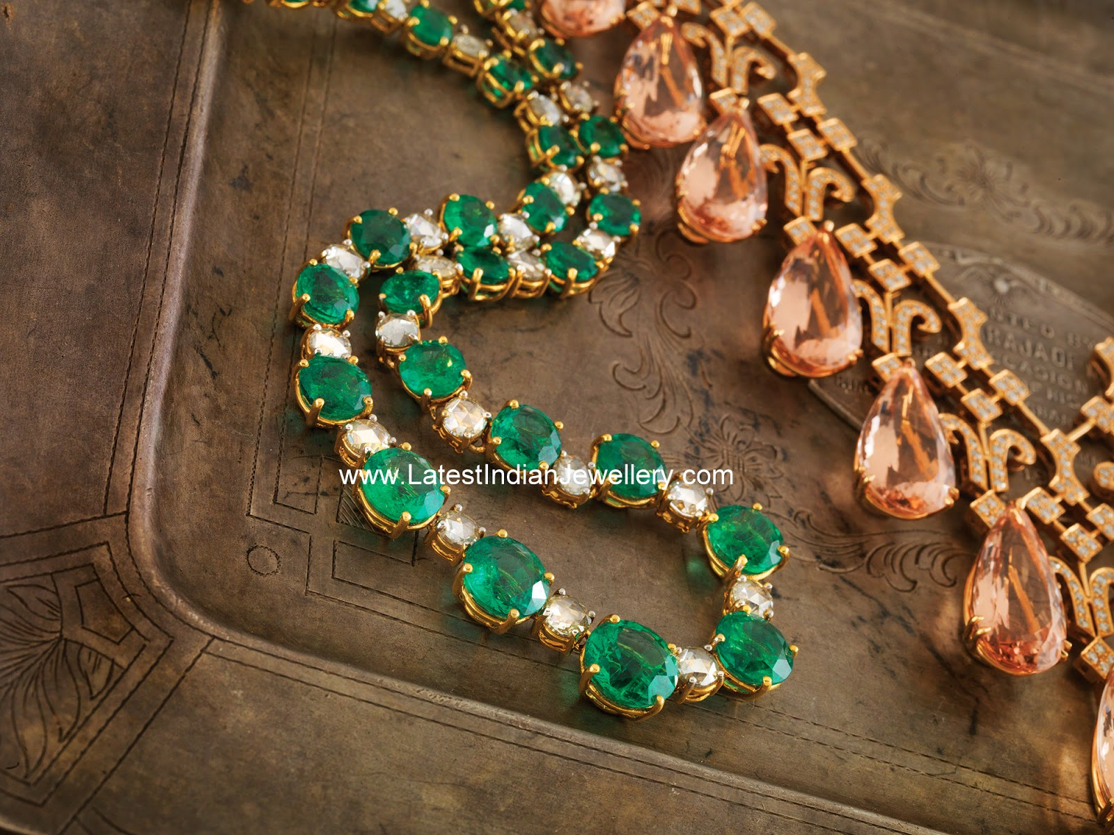 Diamonds and Emeralds Necklace