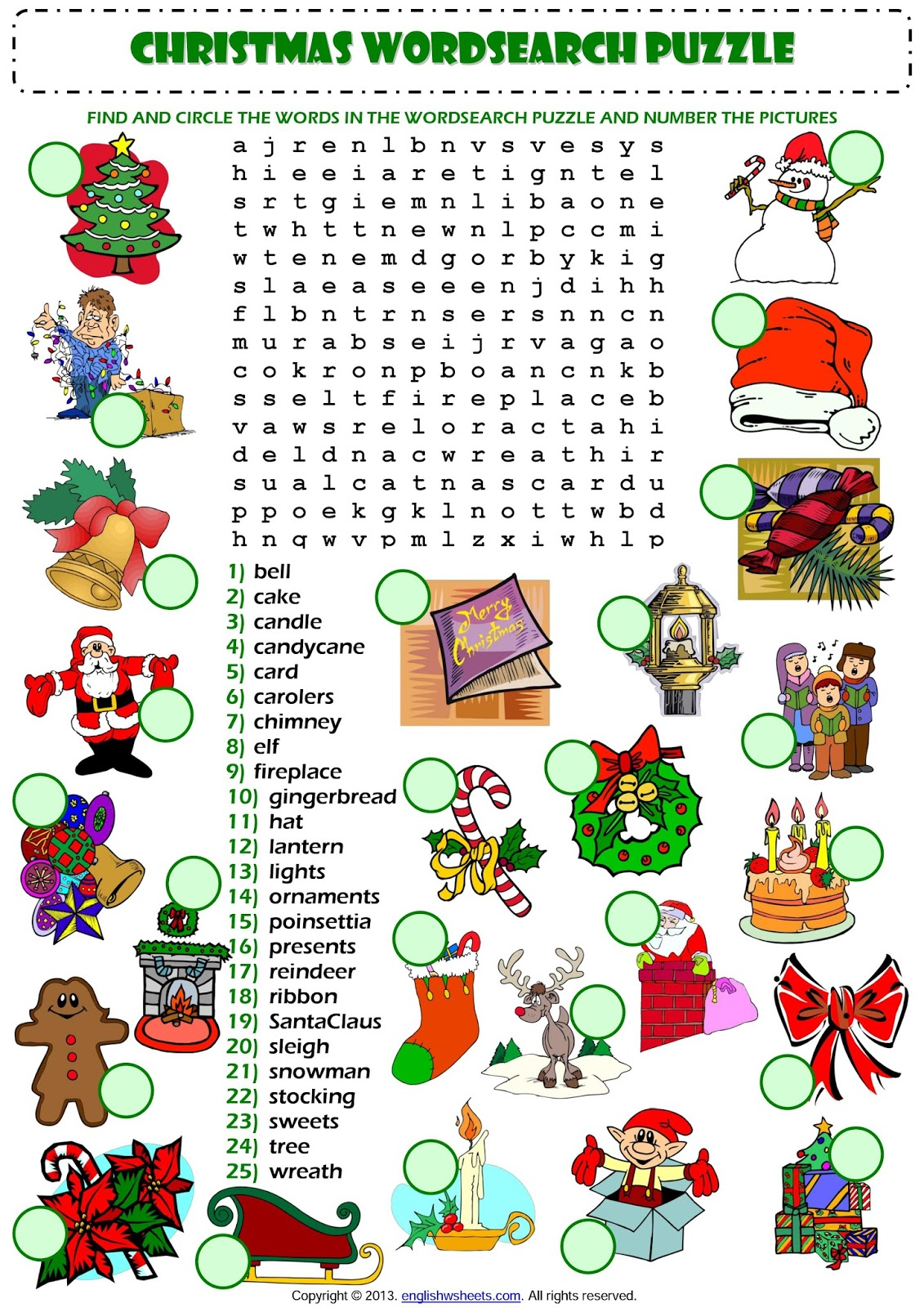 El Mundo De 6oc Christmas Vocabulary