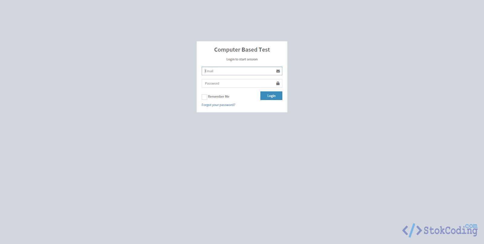Sistem Aplikasi Ujian Online Berbasis Web (Codeigniter)