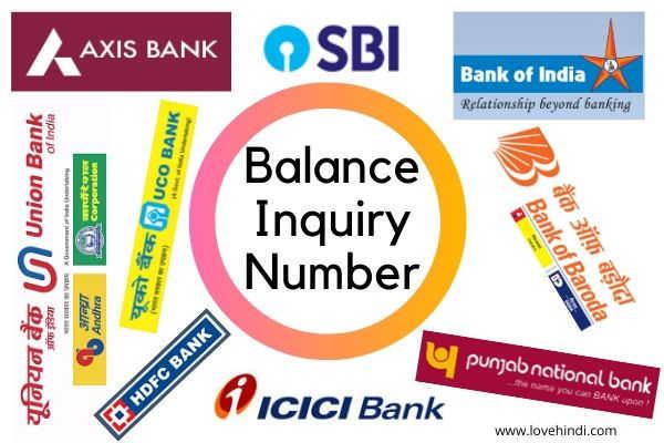 Bank Balance Enquiry Number