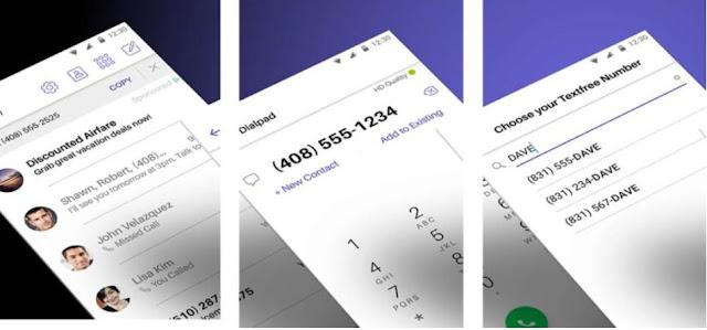 تطبيق Text Free للحصول على ارقام امريكية مجانا