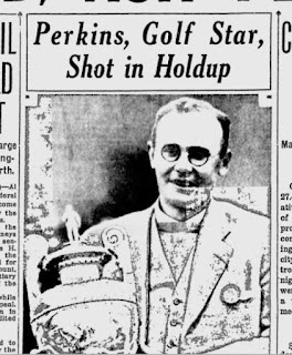 Newspaper detail of coverage of Philip Perkins shooting