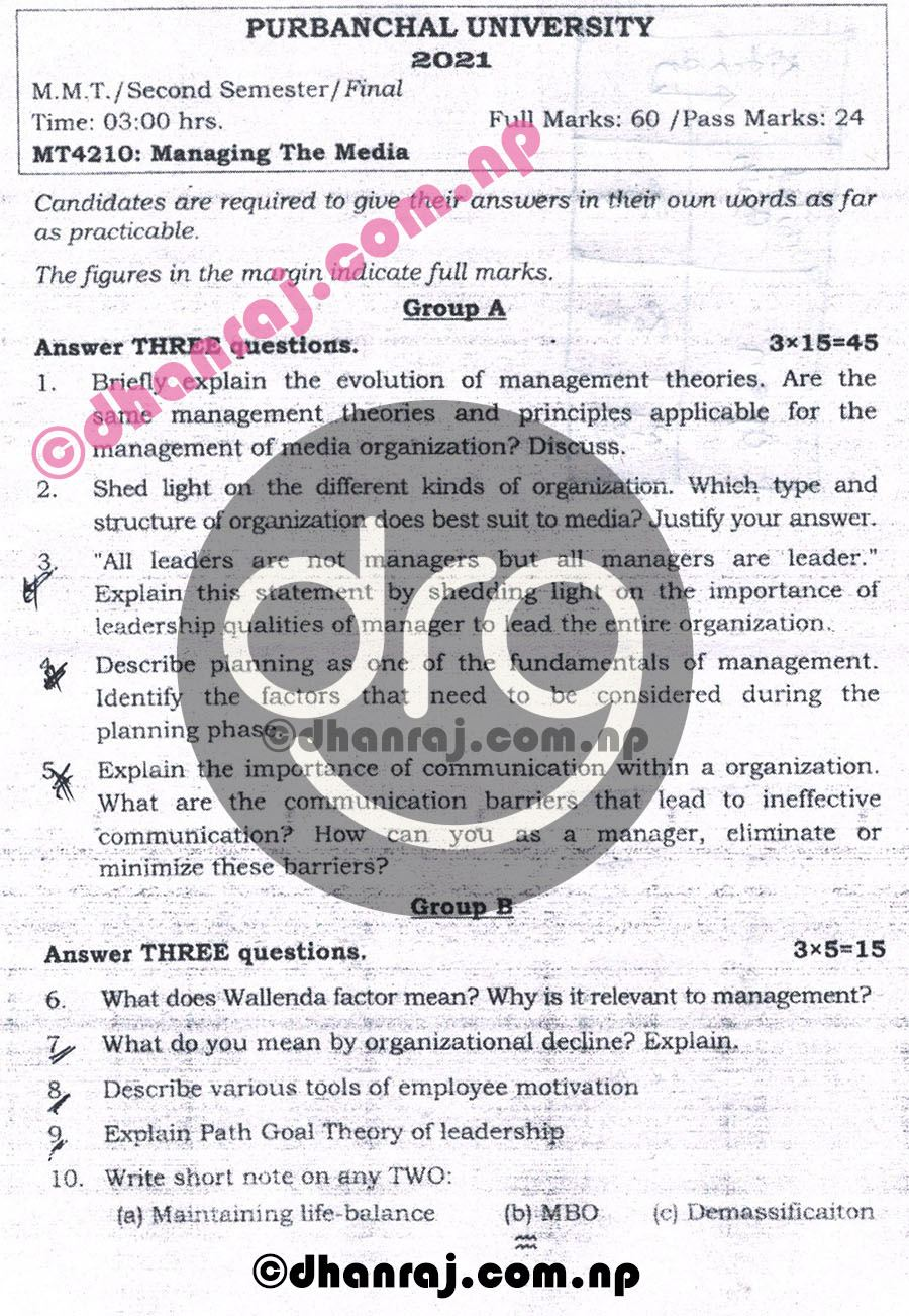 Managing-The-Media-MT4210-Exam-Question-Paper-2078-2021-Purbanchal-University-PU