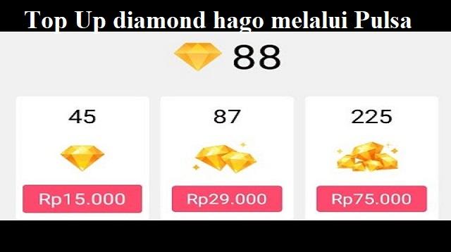 cara top up diamond hago
