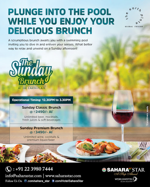 Earth Plate, Hotel Sahara Star: Enjoy a cozy Sunday Buffet Brunch