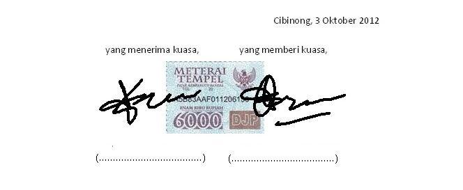 2 Contoh Surat Kuasa Pengambilan Paspor Di Kantor Imigrasi