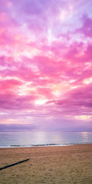 Hình nền bầu trời màu hồng đẹp tuyệt trần