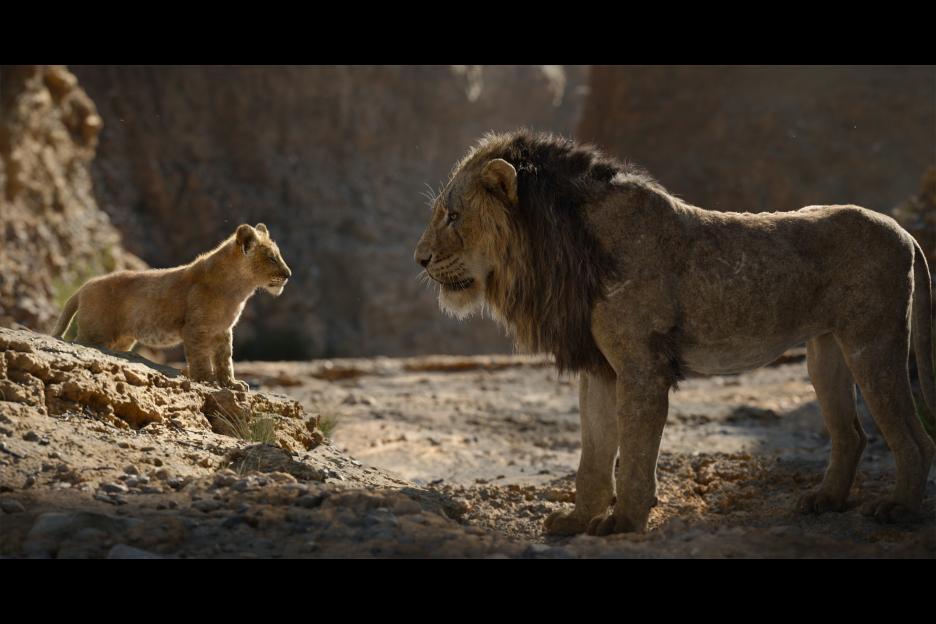 Simba and Mufasa the lion king