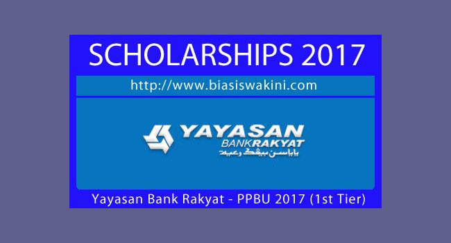 Yayasan Bank Rakyat Scholarship 2017-PPBU