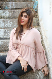 Telugu Actress Aditi Singh Stills in Leather Pants at Nenu Kidnap Iyanu Movie Press Meet  0187.JPG