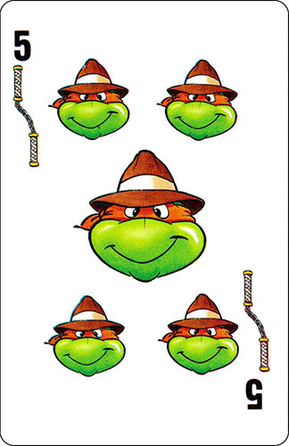 Baraja infantil Las Tortugas Ninja Fournier Carta Michelangelo 5