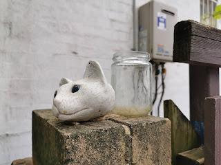 Manly Public Art   Cats Head Sculpture