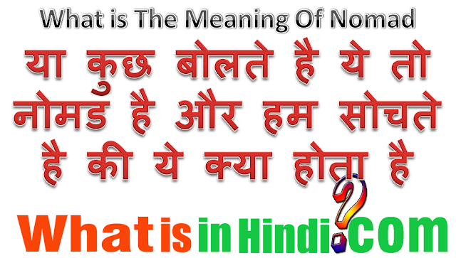 nomadic tribes meaning in hindi