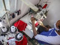 300 Penjahit di Loteng Keroyok Pembuatan 2 Juta Masker