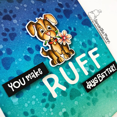 You Make Ruff Days Better Card by Samantha Mann for Newton's Nook Designs, Puppy Friends, Cards, Card Making, Distress Inks, Ink Blending, Encouragement Card, Pawprints #pawprints #distressinks #newtonsnook #inkblending #encouragement #cards #cardmaking