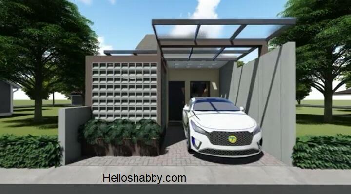 Desain Rumah Minimalis Ukuran 5 X 14 M Dengan 2 Kamar Tidur Dan Fasad Roster Unik Model Terbaru Helloshabby Com Interior And Exterior Solutions