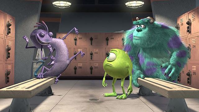 Fotograma de la película de animación de Pixar Monstruos S.A.