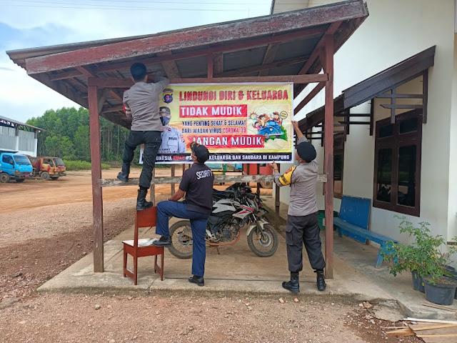 Personel Polsek Sematu Jaya sosialisasikan larangan Mudik Lebaran