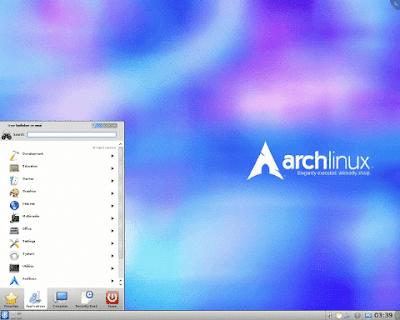 Gambar Deskto Arch Linux