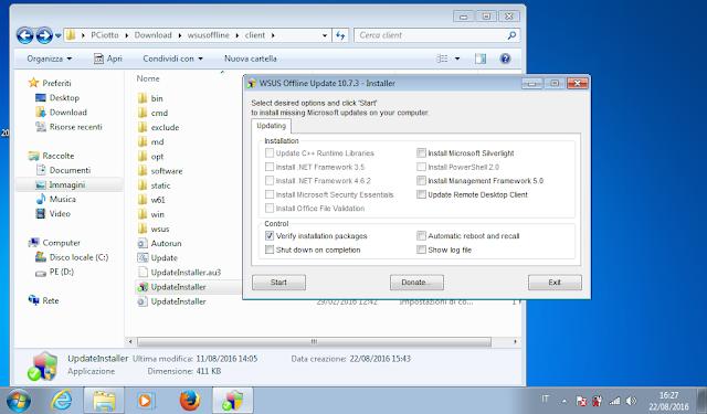 wsus update installer