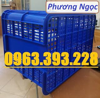 Thùng nhựa đặc có nắp cao 39, sóng nhựa HS026, thùng nhựa đặc HS026, thùng nhựa  Cao39
