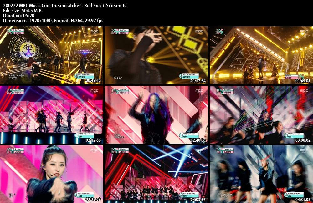 Music Core , Dreamcatcher, Red Sun , Scream , 1080p , Kpop, 2020