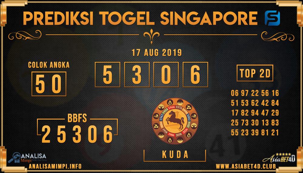 PREDIKSI TOGEL SINGAPORE ASIABET4D 17 AUG 2019