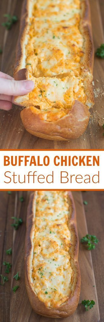 BUFFALO CHICKEN STUFFED BREAD