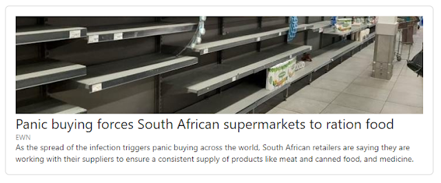 Panic buying in South African shops
