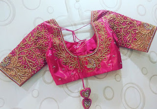 85 Gorgeous Maggam Work Blouse Designs For Pattu Sarees Bling Sparkle,Simple Wedding Cake Designs