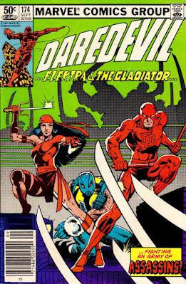 Daredevil #174, Elektra and the Gladiator