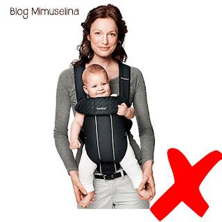 perjuicios del porteo portear hacia fuera blog mimuselina articulos peligrosos no usar jamás con bebés