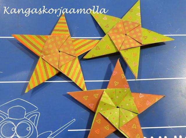 viisisakarainen origami tähti