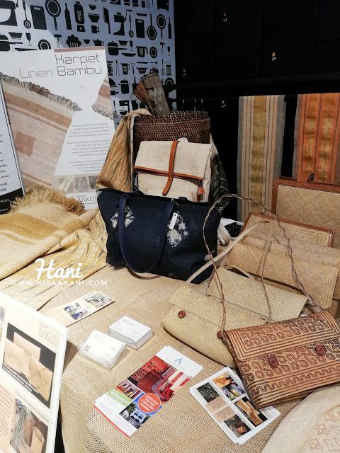 produk kreatif linen karpet bambu