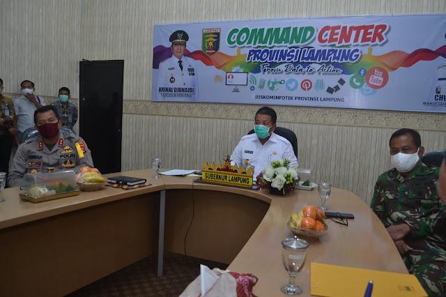Gubernur Lampung Lakukan Rapat Koordinasi Pembatasan Sosial Berskala Besar