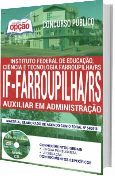 Apostila IFFar 2018 Auxiliar em Administração