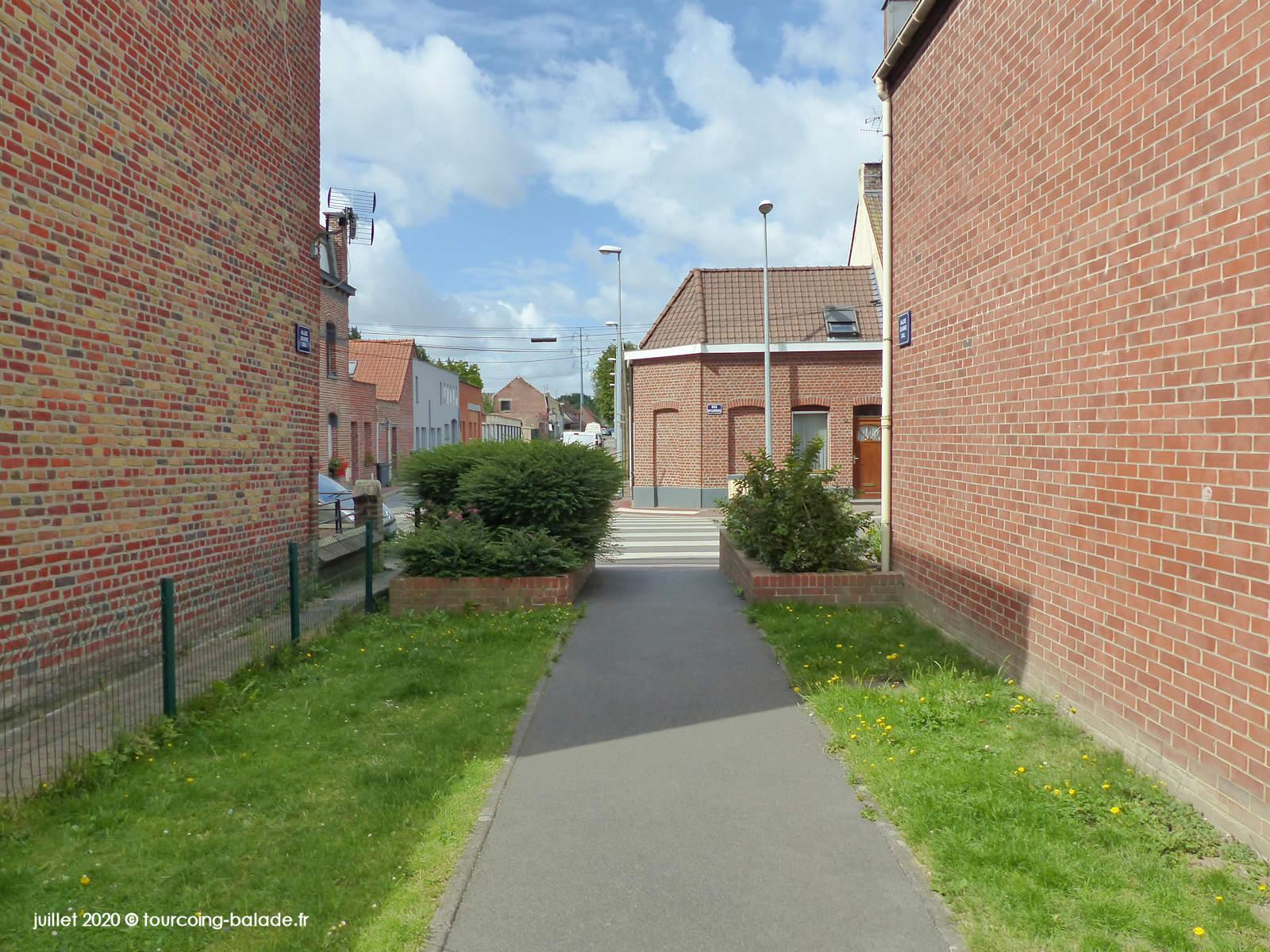 Passage piétonnier de l'Allée DAL, Tourcoing 2020