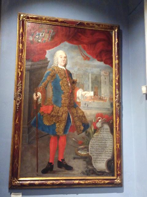 Retrato de Conde de la Superunda en la Catedral de Lima, Perú
