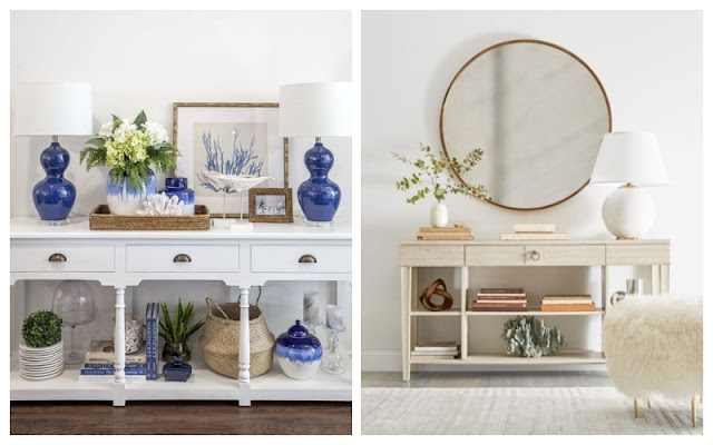 BUFFET - CONSOLE TABLE DECORATIONS IDEAS