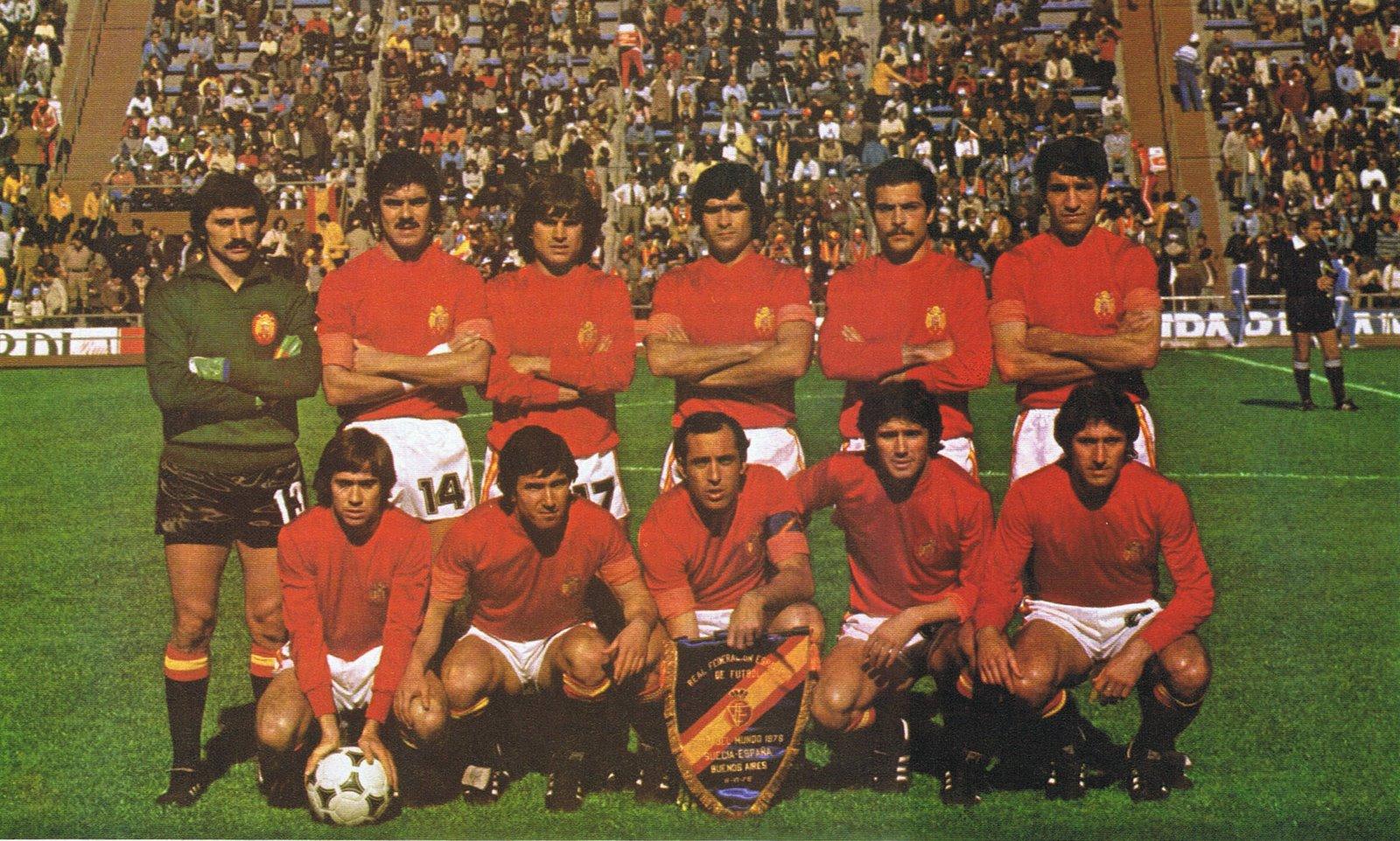 Resultado de imagem para seleção da espanha 1978