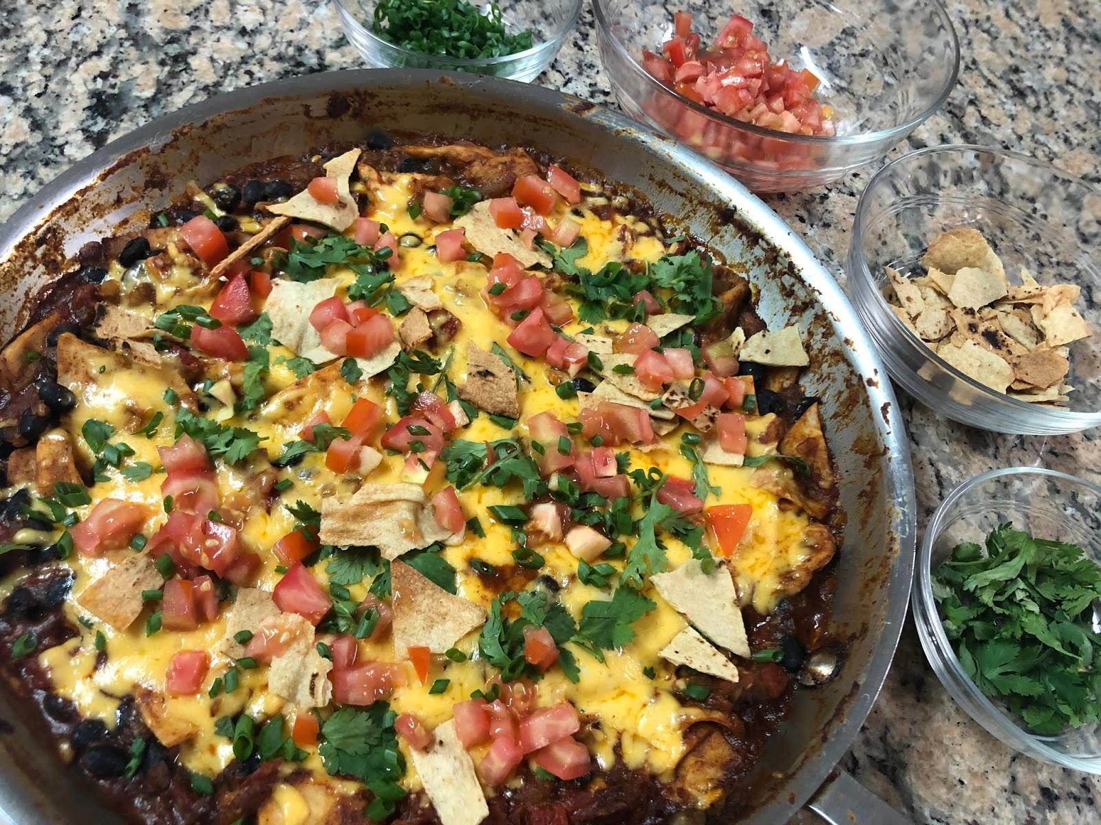 Skillet Chicken Enchiladas