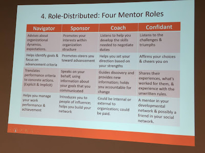 Definitions of the four mentoring roles