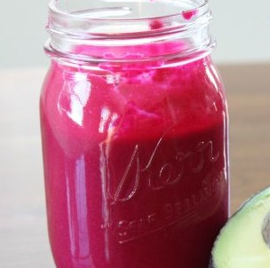 Avocado Beet Smoothie #drinks #healthy
