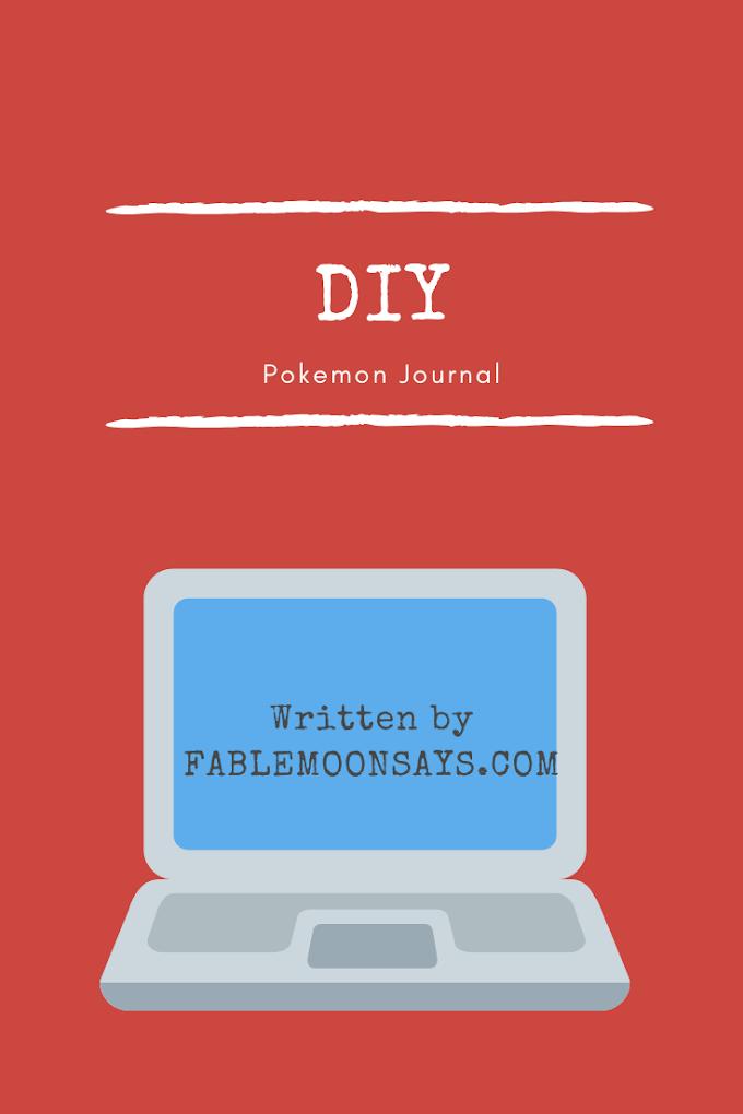 Very Easy DIY Pokemon Journal