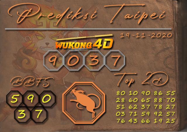 PREDIKSI TOGEL TAIPEI WUKONG4D 19 NOVEMBER 2020