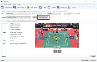 Jika Sobat sudah memilih kualitas video, Sobat kemudian simpan settingannya dengan mengklik Save New Preset.